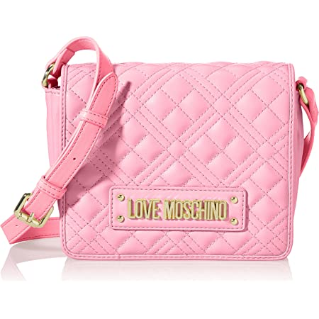 Love Moschino Damen, Borsa a Spalla da Donna, Collezione Primavera Estate Schultertasche, Kollektion Frühjahr Sommer 2021, Rosa, Einheitsgröße