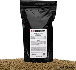 Purina Mills Game Fish Chow, 32% Protein, Extruded Multi-Particle Size Floating Diet For Bass, Bluegill, Catfish, Minnows, Carp, And Other Fish That Normally Populate Ponds, 18 Ounces