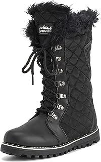 Womens Quilted Comfy Winter Rain Warm Snow Knee High Boot - Black/Black Nylon - US9/EU40 - YC0498