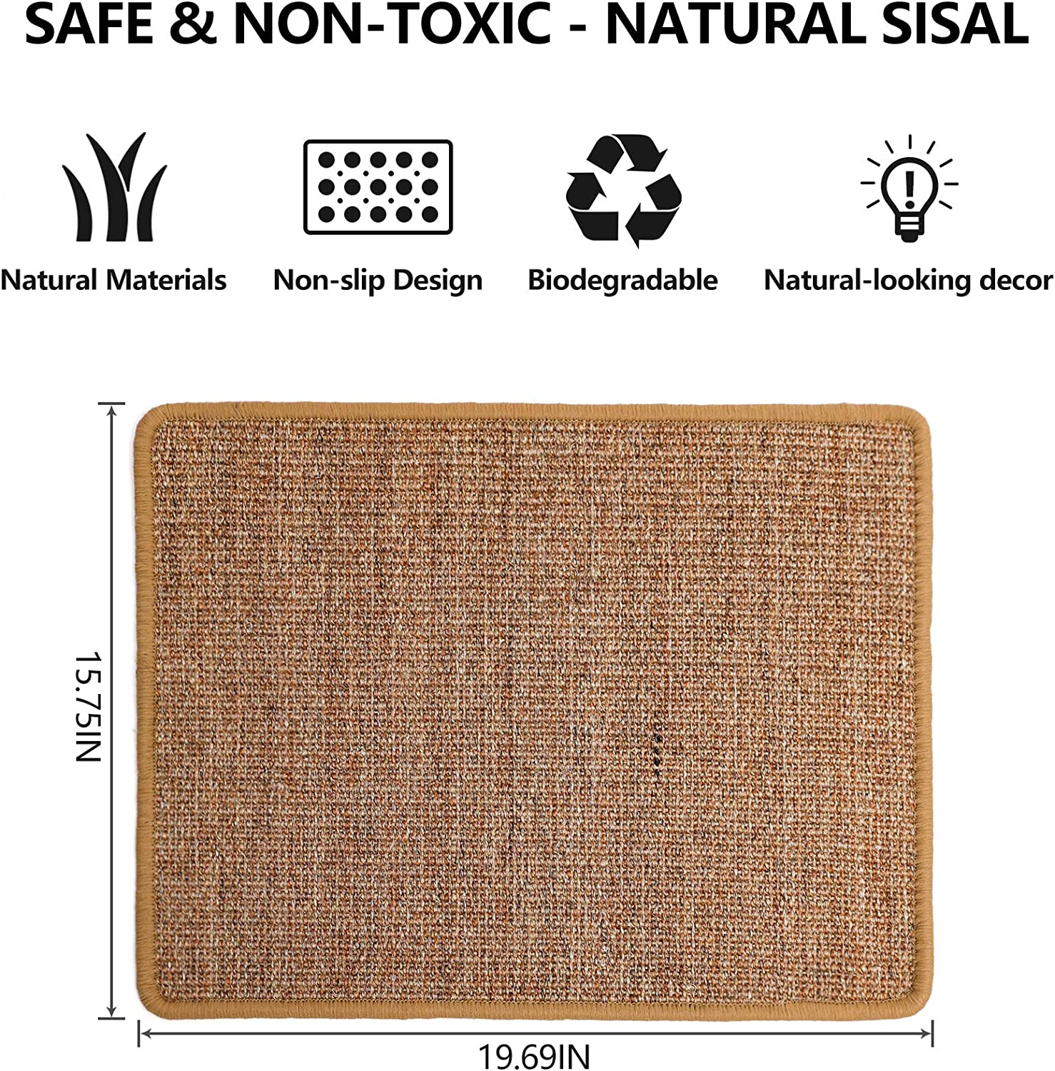 Protect Carpets and Sofas Horizontal Cat Floor Scratching Pad Rug ...
