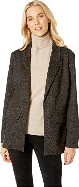 Boyfriend Blazer in Cheetah Ponte Knit