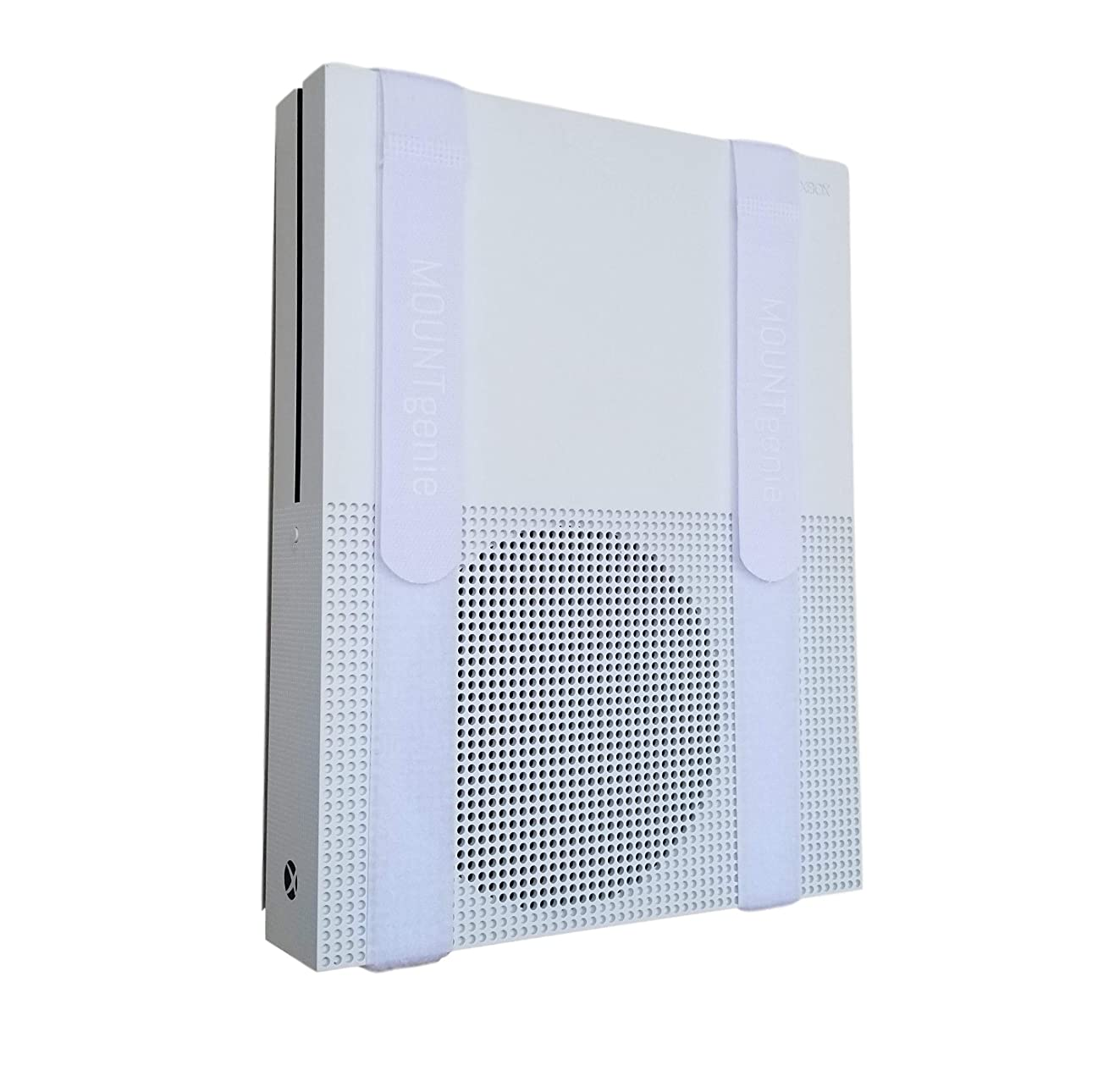The All-in Wonder Mount by Mount Genie: The Easiest Wall Mount for All Components Routers Modems Xbox Playstation DVRs | One Size Fits All | Designed for Home and Business (White)