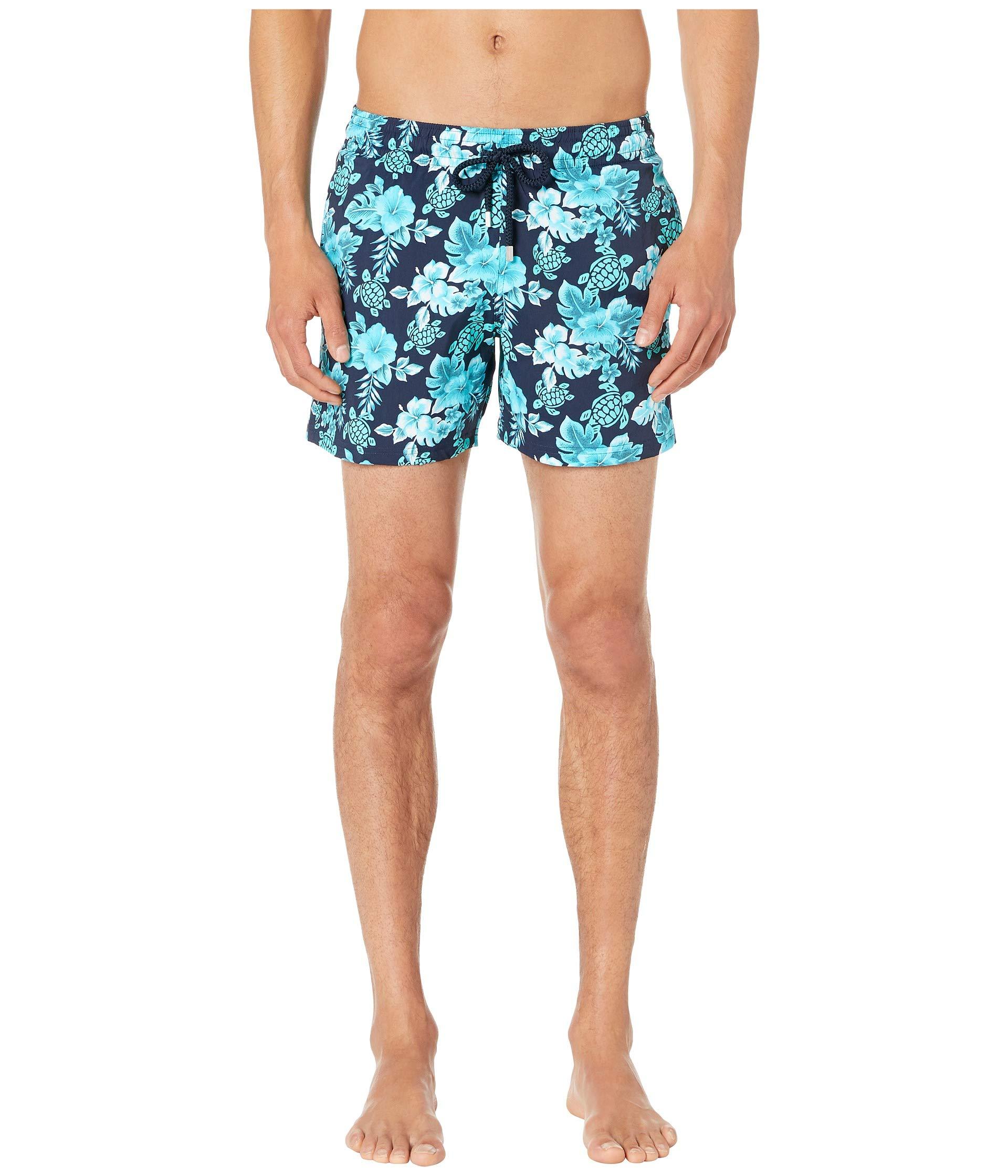 2161842381 Vilebrequin Moorise Turtles Flowers Superflex Swim Trunks at Luxury ...