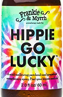 Hippie Go Lucky - Tie Dye - Patchouli and Grapefruit Aromatherapy Spray, Light Perfume, or Freshwater Cologne