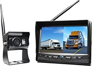 Rear View Safety Wireless Backup Camera System with Dual Screen Monitor and Cigarette Lighter Adaptor RVS-2CAM