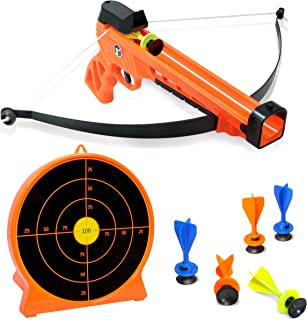 ArmoGear Kids Archery Set with Bow and Arrows – Safe & Sturdy Blaster Bow, 6 Suction Darts & Stand-Up Target – Great Shooting Game for Boys and Girls 8 to 12 Year Olds