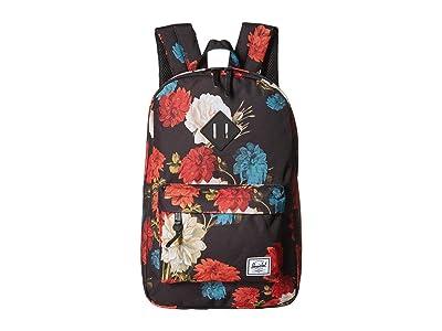 Herschel Supply Co. Heritage Mid-Volume (Vintage Floral Black) Backpack Bags