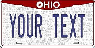 PhotoZoneGa 50 State Personalized Custom Novelty Tag Vehicle Auto Car Bike Bicycle Motorcycle Moped Key Chain License Plate (Ohio 2013)