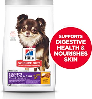 Hill's Science Diet Dry Dog Food, Adult, Small & Mini Breeds, Sensitive Stomach..