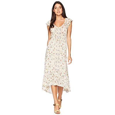 Lucky Brand Felice Floral Dress (Natural Multi) Women