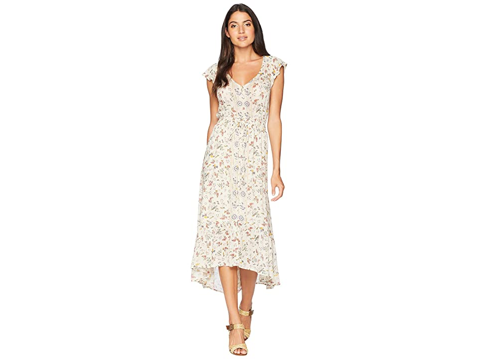 Lucky Brand Felice Floral Dress (Natural Multi) Women