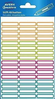 Avery Zweckform 63027 Lot de 102 étiquettes autocollantes pour stylos (mini- étiquettes adhésives permanentes, résistantes...