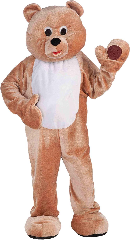 Halloween Teddy Bear Mascot Costume Cartoon Unisex Fancy Dress Adults Sizes 2019
