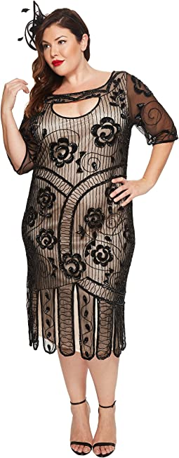 Unique Vintage - Plus Size Avalon Flapper Dress