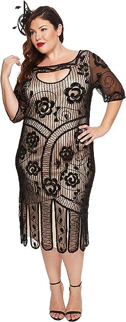 Unique Vintage - Plus Size Avalon Flapper Dress