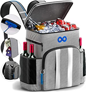 Everlasting Comfort Insulated Cooler Backpack - Keeps 45 Cans Cold Up to 24 Hours - Leakproof Bag