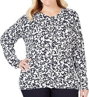 Karen Scott Womens Jacquard Cardigan Sweater