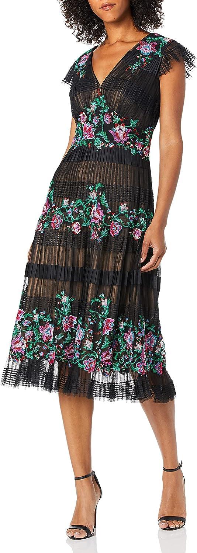 Tadashi Shoji Women's Tea Length Lace Dress