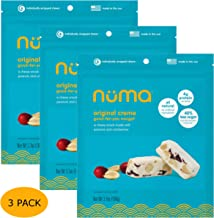 All Natural Chewy Nougat Candy - Low Calorie, Low Sugar, Gluten Free, 4g Protein per Serving, Creamy, Healthy Snack with Peanuts and Dried Cranberries – 3 Bags with 24 Individually Wrapped Chews