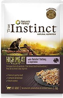 True Instinct High Meat Adult - Nature's Variety - Filetes con Pavo y Verduras para Gatos 70gr - Pack de 8