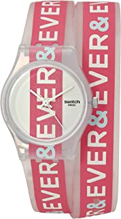 Swatch Women's LW150 Unendlich Year-Round Analog Quartz Pink Watch