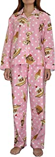 Women's Christmas Soft 100% Cotton Flannel Pajama Sets With Back Pocket