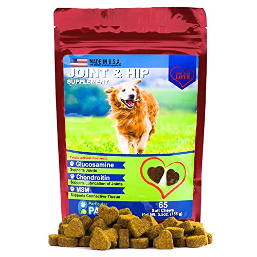 Particular Paws Glucosamine for Dogs - Treats - Joint & Hip Formula with MSM, Chondroitin and Hyaluronic Acid