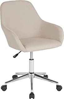 Flash Furniture Cortana Home and Office Mid-Back Chair in Beige Fabric