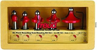 Freud 5 Piece Round Over/Beading Bit Set (1/2