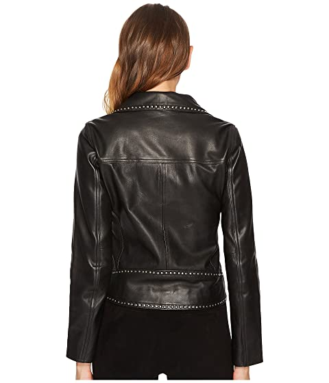 with Kooples Metal Rivets Jacket Leather The q0nt7q