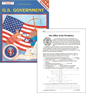 "McDonald Publishing MC-R561 U.S. Government Reproducible Book, Grade: 6 to 9, 0.1"" Height, 8.6"" Wide, 11.3"" Length"