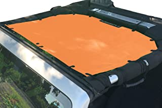 Alien Sunshade Jeep Sunshade Mesh Top Jeep Wrangler 2-Door JK 4-Door JKU 2007-2018 - 10 Year Warranty Front Jeep Top Krush Orange