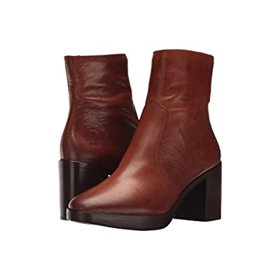Frye Joan Campus Short (Redwood Smooth Antique Pull Up) Women