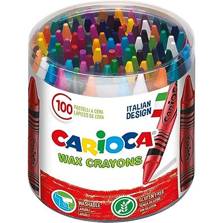 Carioca Wax   42399 - Caja de Ceras, Colores Surtidos 100 Unidades