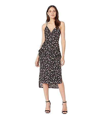 BCBGeneration Cocktail Drapey Pocket Knit Dress (Black) Women