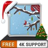 無料のメリークリスマスHD-HDR 4Kテレビ、8Kテレビの美しい景色で部屋を飾り、壁紙、クリスマス休暇の装飾、調停と平和のテーマ