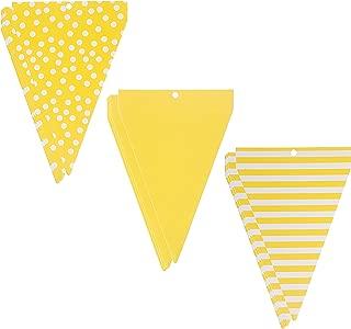Darice Large Printed, Yellow Paper Pad Banners
