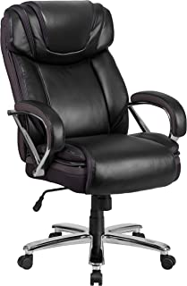 Flash Furniture HERCULES Series Big & Tall 500 lb. Rated Black LeatherSoft Executive Swivel Ergonomic Office Chair with Ex...