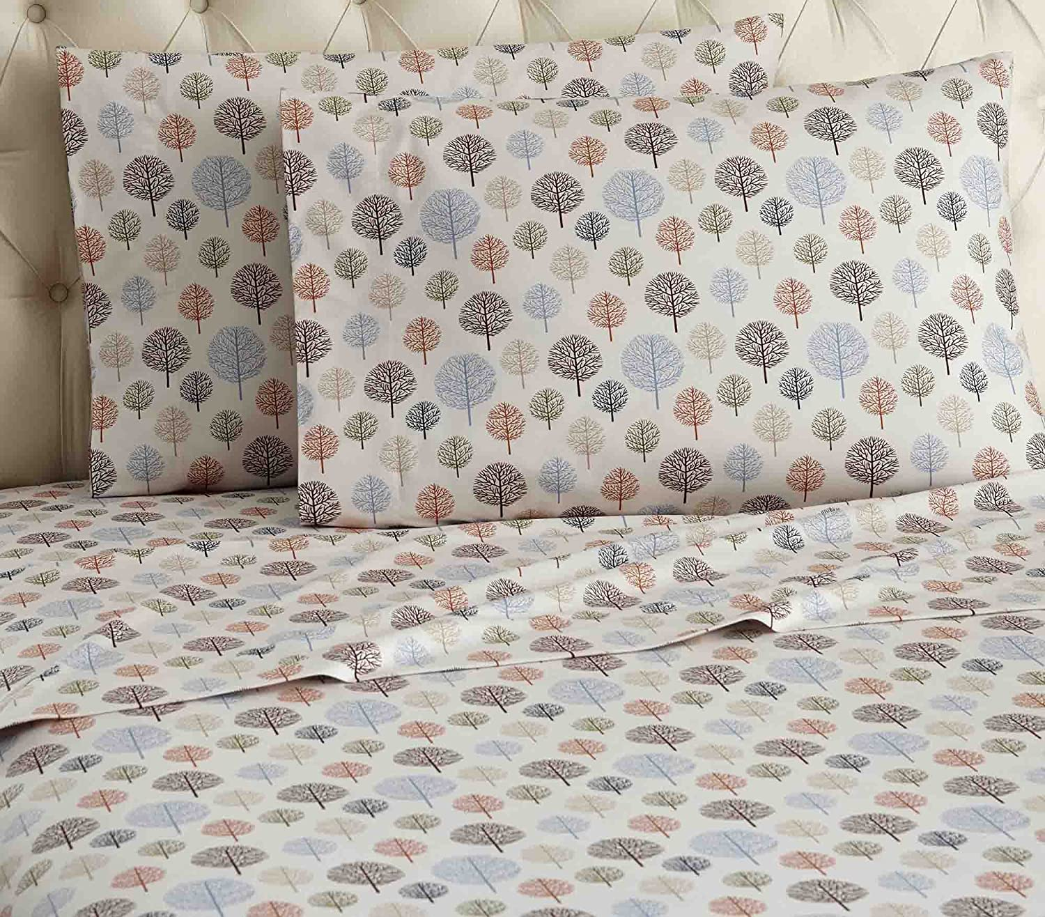 Thermee Micro Flannel Shavel Home Products Sheet Set, Happy Forest, Twin