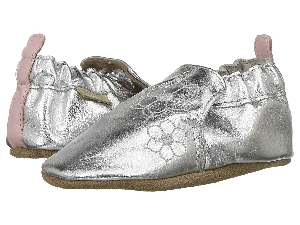 Robeez Loved and Cherished Soft Sole (Infant/Toddler) (Silver) Girl