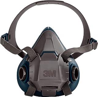 3M Rugged Comfort Half Facepiece Reusable Respirator 6501/49487, Small,Gray/Teal,51131494874
