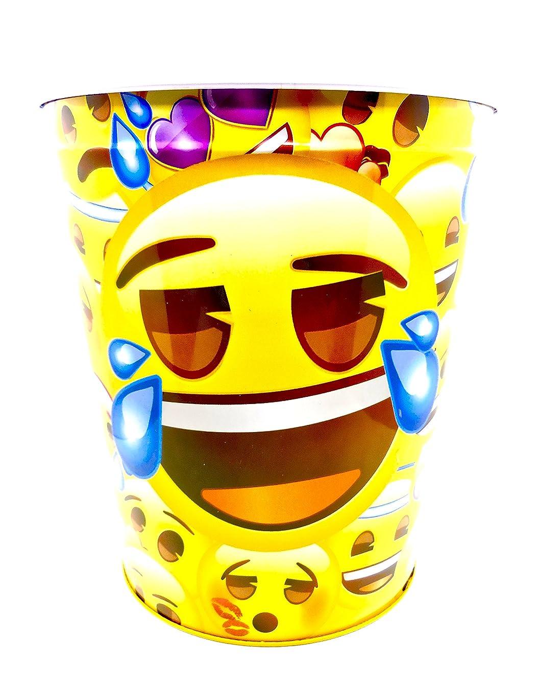 emoji Wastebasket,Colorful, Tin (Yellow Crying