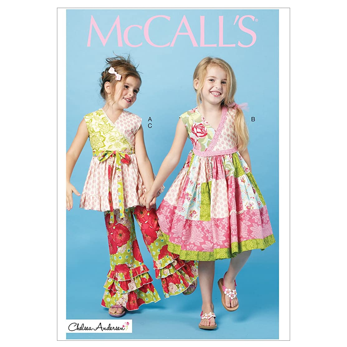McCall Patterns M6497 Children's/Girls' Top, Dress and Pants, Size CDD (2-3-4-5)