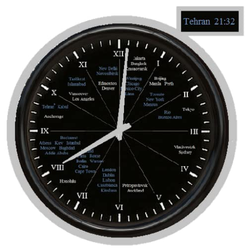 12-hour world clock