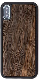 Reveal iPhone X/Xs Case - Extra Protective Real Wood Case Compatible with iPhone X/Xs with TPU Rubber Layer for Extra Protection - Intricate Laser Engraving, Eco-Friendly Design Shop (Walnut, X