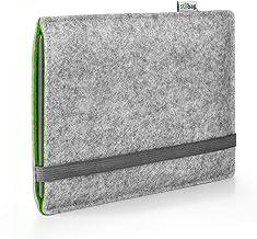 Stilbag Funda e-Reader Finn para Icarus Illumina XL HD | Fieltro de Lana Gris y Verde | Cubierta Protectora - Made in Germany