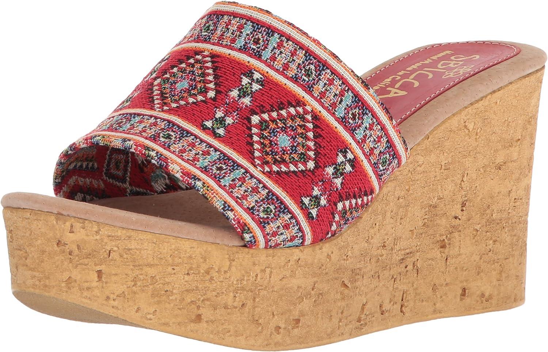 Sbicca Woherren SALICE Wedge Sandal, rot Multi, 10 M US  | Modisch  | Qualität Produkt  | Günstig