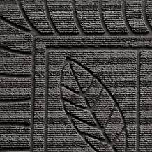 Tapis Deco Door Carpet 45X75 FEUILLES, Gris Grey, 45 x 75 cm