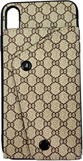 Boozuk iPhone XR Wallet Case, Luxury Stylish PU Leather Ultra Slim & Thin Soft TPU Anti-Slip Scratch Resistant Shockproof Cover Case with Card Slot Holder Closure Buckle for Apple iPhone XR 6.1