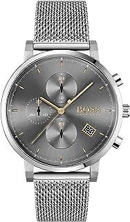 Hugo Boss Men's Grey Dial Stainless Steel Watch - 1513807